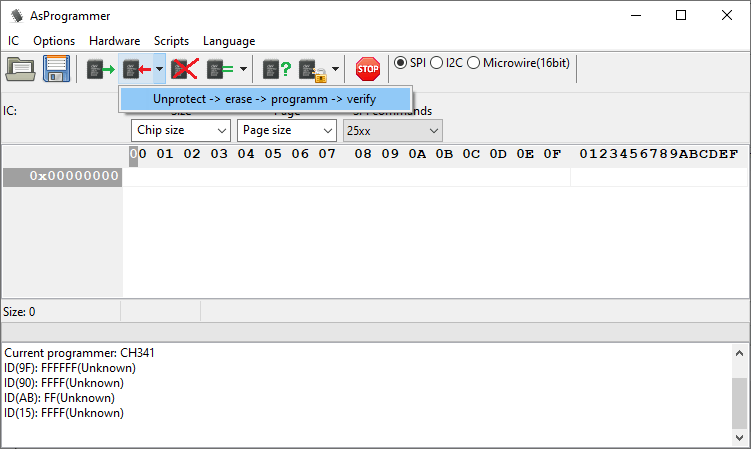 AsProgrammer being used to write new firmware to a Dell Alienware Area 51 r2