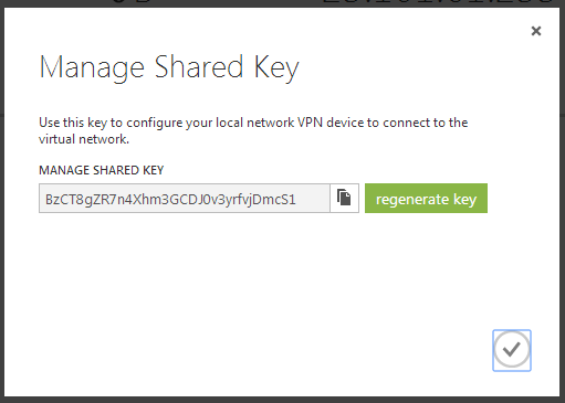 Azure Gateway Preshared Key