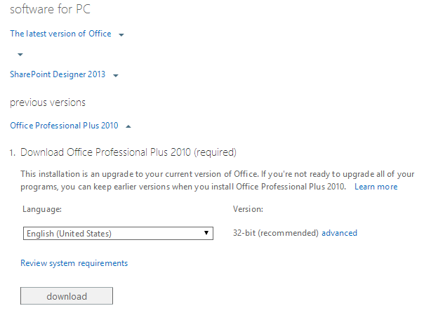 How to download Office 2010 for Office 365 from the Office 365 Admin Center