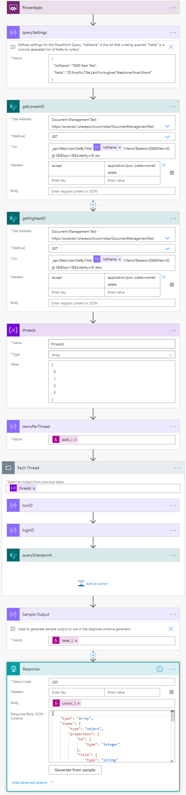 Super easy flow to get more than 5,000 items from a SharePoint list