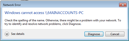 Windows 7 Unable to Access Network Shares