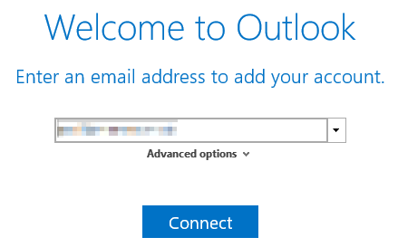 Image showing Outlook 2016 Simplified Account Creation which needs to be disabled in order to send email from an alias when using Office 365