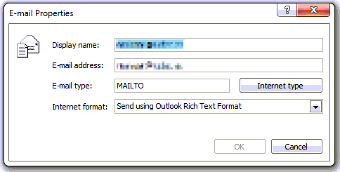 Showing MAILTO instead of SMTP
