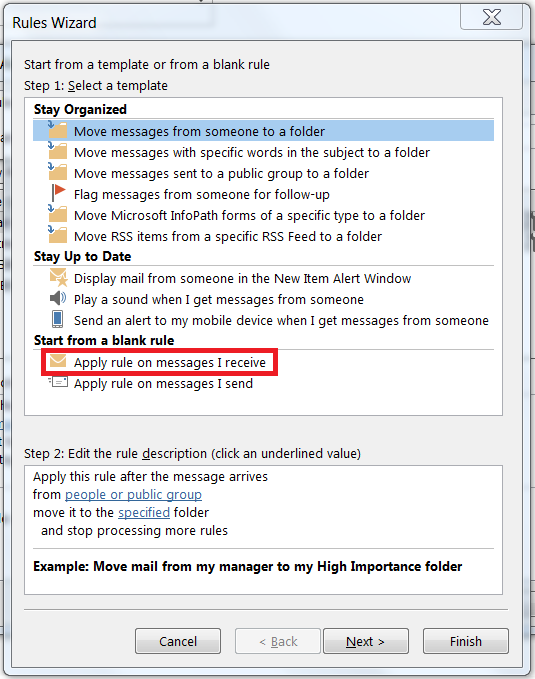 Office 365 Using An Outlook Rule To Determine Which Email Alias An