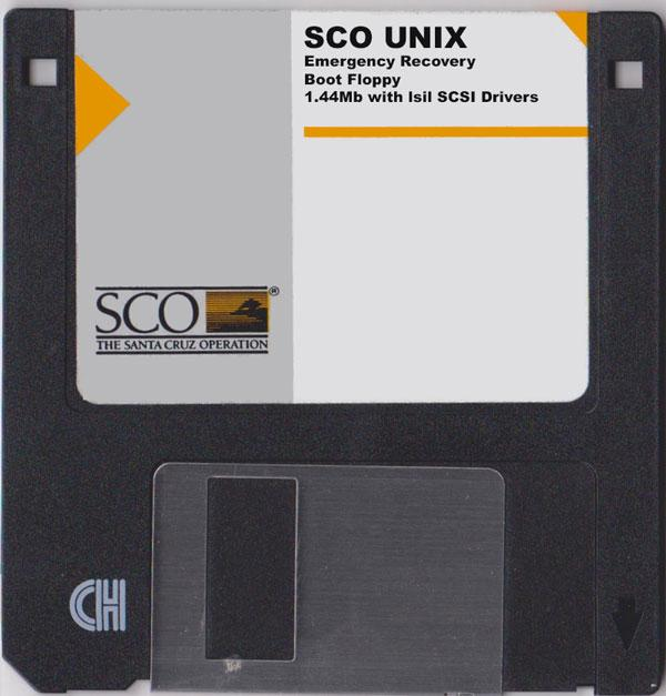 SCO Openserver Emergency Recover Boot Floppy