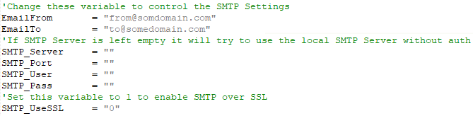 Image showing SMTP Configuration for Windows Update Notifications