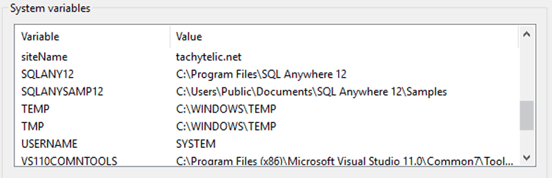 Image showing system environment variable added by PowerShell
