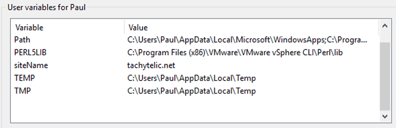 Create Environment Variables with PowerShell