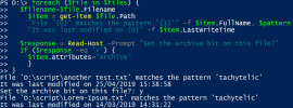 Example output from Powershell providing grep functionality