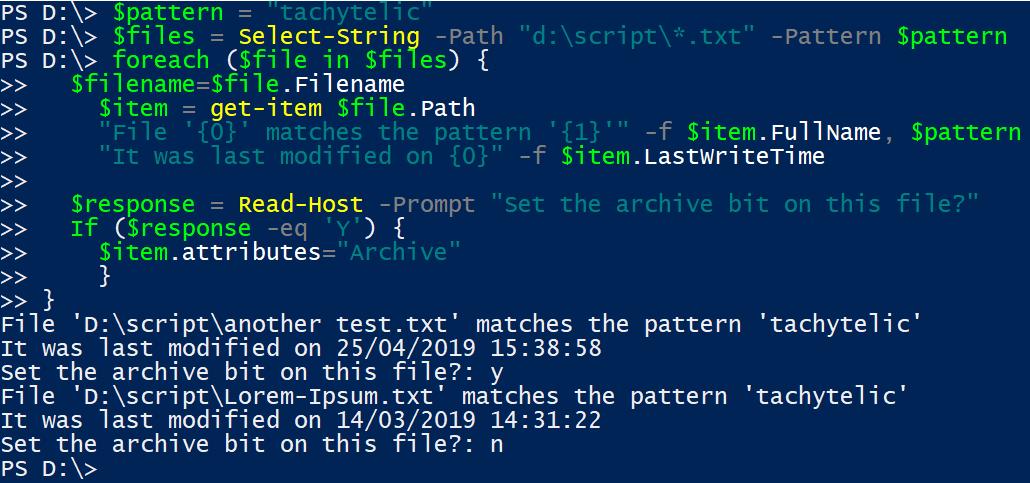 Use Windows Powershell to provide GNU Grep Functionality
