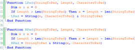 Image showing VBScript Functions to Pad Left and Pad Right