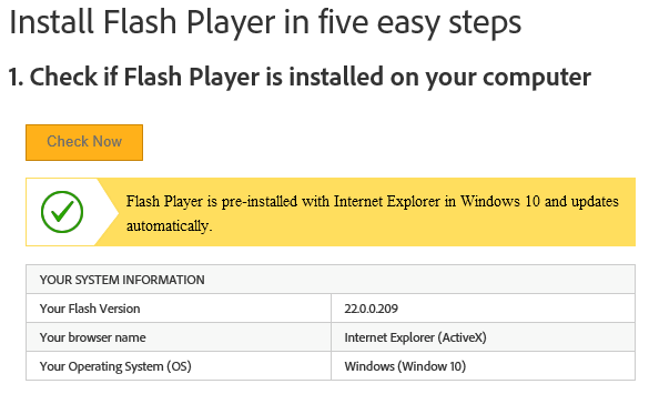 adobe flash player free download for windows server 2016