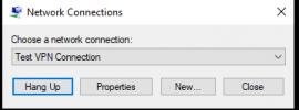 Image showing rasphone.exe running on Windows 10 1903 update